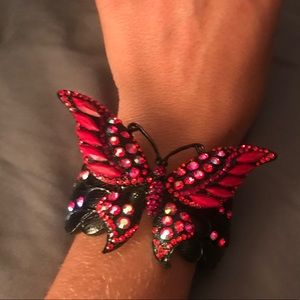 Beautiful red butterfly bracelet
